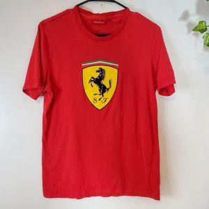 Ferrari Red Big Logo Crewneck Short sleeve Shirt